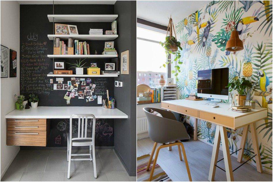 decoracao-criativa-para-home-office-FUNCIONAL-móveis para escritorio -  Funcional
