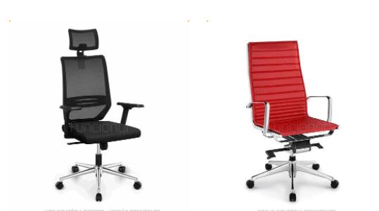 imagem de cadeiras de escritório com ajustes